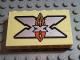 Part No: BA012pb06  Name: Stickered Assembly 6 x 1 x 3 with Island Xtreme Stunts Logo Pattern (Sticker) - Set 6740 - 3 Bricks 1 x 6