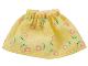 Part No: belvskirt31  Name: Belville, Figure Accessory Clothes Skirt Short, Pink Flowers Pattern (Set 5860)