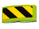 Part No: 11477pb041R  Name: Slope, Curved 2 x 1 No Studs with Black and Yellow Danger Stripes Pattern Right (Sticker)