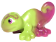 Part No: 15678pb03  Name: Chameleon, Friends / Elves with Black, Magenta and White Eyes and Marbled Magenta Pattern (Hidee)