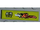 Part No: 2431pb186L  Name: Tile 1 x 4 with 'AIR BAX' and 'XR FUEL' Pattern Model Left Side (Sticker) - Set 8186