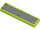 Part No: 2431pb218  Name: Tile 1 x 4 with Dark Gray Tread Plate and 6 Rivets Pattern (Sticker)