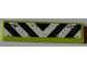 Part No: 2431pb219  Name: Tile 1 x 4 with Black and White Danger Stripes and Splatters Pattern (Sticker) - Set 8709