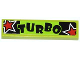 Part No: 2431pb327  Name: Tile 1 x 4 with 'TURBO' and 2 Red Stars Pattern (Sticker) - Set 60055