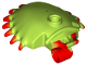 Part No: 29112pb01  Name: Venus Flytrap Shell with Red Spikes Pattern
