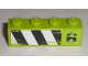 Part No: 3010pb129R  Name: Brick 1 x 4 with '6' and Black and White Danger Stripes Pattern Model Right (Sticker) - Set 8211