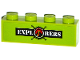 Part No: 3010pb198  Name: Brick 1 x 4 with 'EXPLORERS' and Volcano Explorers Logo Compass Pattern (Sticker) - Set 60121