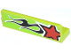 Part No: 30413pb039R  Name: Panel 1 x 4 x 1 with Red Star and Black Flames Pattern Model Right Side (Sticker) - Set 60055