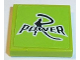 Part No: 3068bpb0969  Name: Tile 2 x 2 with Groove with Black 'R POWER' on Lime Background Pattern (Sticker) - Set 8152
