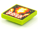 Part No: 3068bpb1547  Name: Tile 2 x 2 with Groove with BeatBit Album Cover - Explosion Pattern