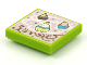 Part No: 3068bpb1618  Name: Tile 2 x 2 with Groove with BeatBit Album Cover - Cupcakes Pattern