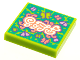 Part No: 3068bpb1624  Name: Tile 2 x 2 with Groove with BeatBit Album Cover - Butterflies Pattern