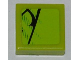 Part No: 3070bpb053L  Name: Tile 1 x 1 with Groove with Scales Pattern Model Left Side (Sticker) - Set 8231