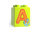 Part No: 31110pb043  Name: Duplo, Brick 2 x 2 x 2 with Letter A and Anchor Pattern