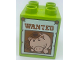 Part No: 31110pb142  Name: Duplo, Brick 2 x 2 x 2 with Wanted Poster of Hamm (Toy Story) Pattern