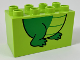 Part No: 31111pb049  Name: Duplo, Brick 2 x 4 x 2 with Alligator / Crocodile Feet Pattern