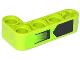 Part No: 32140pb09  Name: Technic, Liftarm 2 x 4 L-Shape Thick with Air Intake and Black Pentagon Pattern (Sticker) - Set 42021