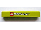 Part No: 32524pb008  Name: Technic, Liftarm 1 x 7 Thick with LEGO TECHNIC Logo on Lime Background Pattern (Sticker) - Set 8256