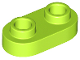Part No: 35480  Name: Plate, Modified 1 x 2 Rounded with 2 Open Studs