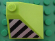 Part No: 3675pb01L  Name: Slope 33 3 x 3 Double Convex with Danger Stripes Pattern Model Left Side (Sticker) - Set 8190