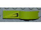 Part No: 50947pb014L  Name: Vehicle, Mudguard 1 x 4 1/2 with Air Vent on Lime Background Pattern Model Left Side (Sticker) - Set 8186