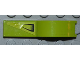 Part No: 50947pb014R  Name: Vehicle, Mudguard 1 x 4 1/2 with Air Vent on Lime Background Pattern Model Right Side (Sticker) - Set 8186