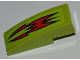Part No: 50950pb023  Name: Slope, Curved 3 x 1 with Red Fire Pattern (Sticker) - Set 8199
