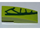 Part No: 50950pb047R  Name: Slope, Curved 3 x 1 with 4 Lime Scales Pattern Model Right Side (Sticker) - Set 9558