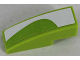 Part No: 50950pb094R  Name: Slope, Curved 3 x 1 with White Curved Pattern Right (Sticker) - Set 8864