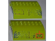Part No: 54095pb05  Name: Slope, Curved 8 x 8 x 2 Double with Bolted Panel, 'TMA' and 'DANGER' Pattern (Stickers) - Set 8960
