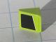 Part No: 54200pb013R  Name: Slope 30 1 x 1 x 2/3 with White Line on Lime and Black Pattern Model Right side (Sticker) - Set 8119