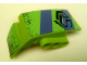 Part No: 61070pb015  Name: Technic, Panel Car Mudguard Right with Dark Bluish Gray and Lime Stripes, 'PS' and 'Polyshock' and Mud Splashes Pattern (Stickers) - Set 8496