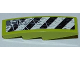 Part No: 61678pb025R  Name: Slope, Curved 4 x 1 with Black and White Danger Stripes and Splatters Pattern Model Right Side (Sticker) - Set 8961