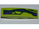 Part No: 61678pb045L  Name: Slope, Curved 4 x 1 with 2 Green Scales and 6 Purple Scales Pattern Model Left (Sticker) - Set 9455