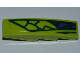 Part No: 61678pb046L  Name: Slope, Curved 4 x 1 No Studs with 5 Green Scales and 3 Purple Scales Pattern Model Left (Sticker) - Set 9455
