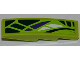 Part No: 61678pb053L  Name: Slope, Curved 4 x 1 with Green, White and Purple Scales Pattern Model Left (Sticker) - Set 9447