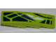 Part No: 61678pb053R  Name: Slope, Curved 4 x 1 with Green, White and Purple Scales Pattern Model Right (Sticker) - Set 9447