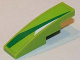 Part No: 61678pb064L  Name: Slope, Curved 4 x 1 No Studs with Green and White Pattern Model Left Side (Sticker) - Set 8864