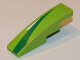 Part No: 61678pb064R  Name: Slope, Curved 4 x 1 No Studs with Green and White Pattern Model Right Side (Sticker) - Set 8864
