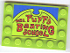 Part No: 6180pb037  Name: Tile, Modified 4 x 6 with Studs on Edges with 'MRS. PUFF'S BOATING SCHOOL' Pattern (Sticker) - Set 4982