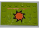 Part No: 6180pb050  Name: Tile, Modified 4 x 6 with Studs on Edges with Orange 8-Point Star, Rust and Scratches Pattern (Sticker) - Set 8964
