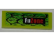 Part No: 63864pb011L  Name: Tile 1 x 3 with Scales and 'FuZone' Pattern Model Left Side (Sticker) - Set 8231