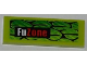 Part No: 63864pb011R  Name: Tile 1 x 3 with Scales and 'FuZone' Pattern Model Right Side (Sticker) - Set 8231