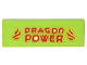 Part No: 63864pb055  Name: Tile 1 x 3 with Red and Yellow Flames and 'DRAGON POWER' Pattern (Sticker) - Set 70620