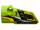 Part No: 64683pb052  Name: Technic, Panel Fairing # 3 Small Smooth Long, Side A with '88', Fuel Hole, Yellow and White Stripes on Lime Background Pattern (Sticker) - Set 42072