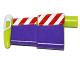 Part No: 88065pb01  Name: Minifigure, Spacesuit Wing with Red and White Stripes and Purple Wing Surface Pattern (Buzz Lightyear)