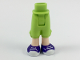 Part No: 92251c00pb13  Name: Mini Doll Friends Hips and Cropped Trousers, Dark Purple Sneakers with White Soles and Laces Pattern