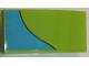 Part No: 93606pb060  Name: Slope, Curved 4 x 2 No Studs with Medium Azure Stripe Curving Down Left Pattern (Sticker) - Set 75902