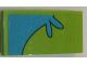 Part No: 93606pb061  Name: Slope, Curved 4 x 2 No Studs with Medium Azure Stripe with Splash Curving Down Right Pattern (Sticker) - Set 75902
