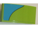 Part No: 93606pb062  Name: Slope, Curved 4 x 2 No Studs with Medium Azure Stripe Curving Down Right Pattern (Sticker) - Set 75902